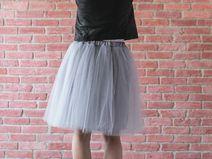 Łabędzica - spódnica tiulowa 6 warstw tiul miękki