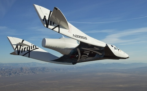 Scaled Composites Model 339 SpaceShip 2 (SS2). A suborbital air-launched rocket plane designed for space tourism. Under contract to The Spaceship Company, owned by Virgin Galactic. It made it's 1st powered flight on 29 April 2013.