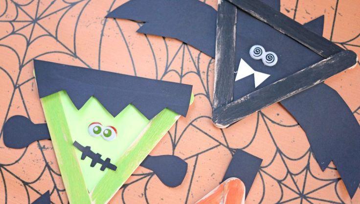 Popsicle Stick Halloween Friends – Kid Craft