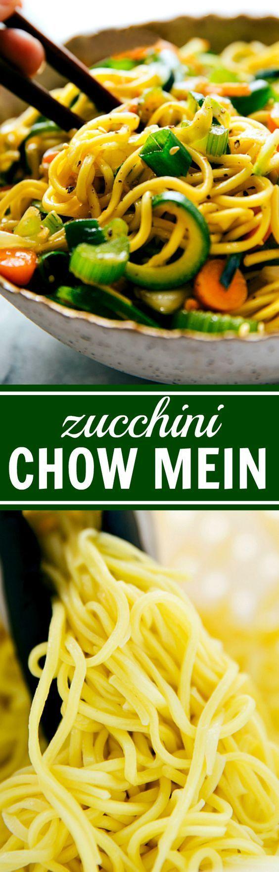 Easy Chow Mein with Spiralized Zucchini