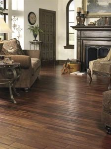 """Show details for Anderson Virginia Vintage Colonial Manor Hickory- Smokehouse 2-1/4"""", 3-1/4"""", 4"""" Dark brown, handscraped"""