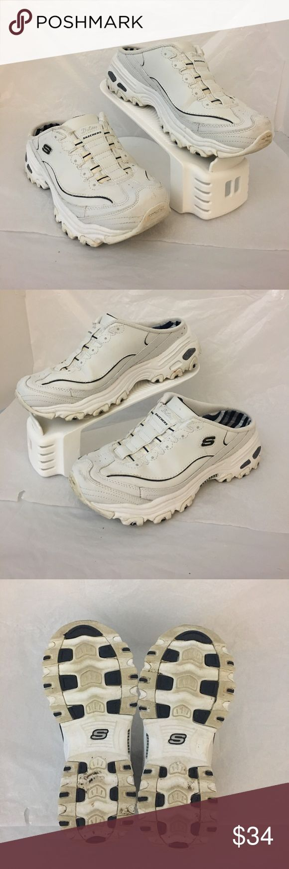 Skechers D'Lites Sport shoes Pre owned in excellent condition Skechers D'Lite sport mules. The front of each shoe does have minor scuff marks. The inside and soles and the rest of the shoes are perfect. Size: 7   Smoke and pet free house Skechers Shoes Sneakers