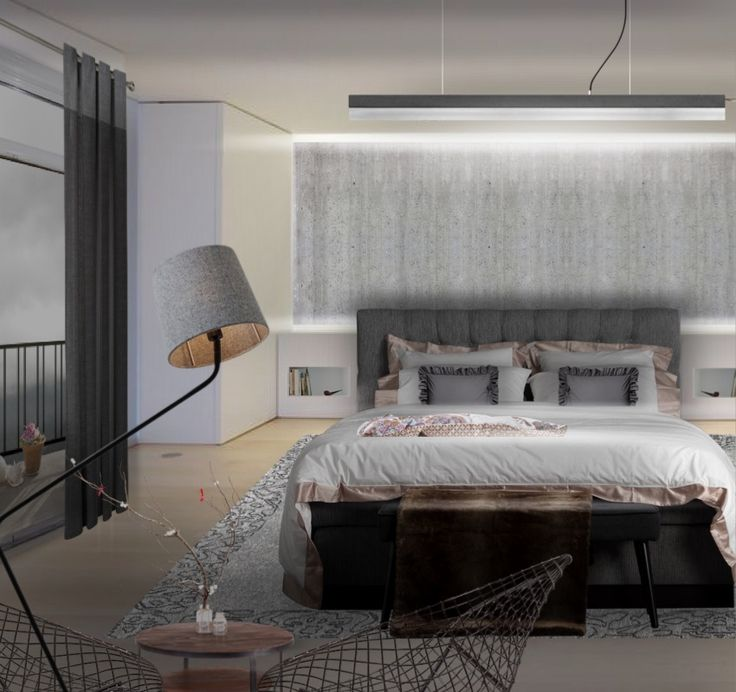 'Bedroom design by #aleksandra_paradowska love my day off when I can design just for fun. Have a lovely day #neybers 🤗' created in #neybers