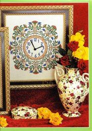 cross stitch clock - free pattern