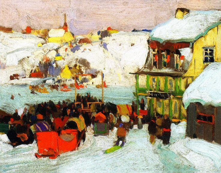 The Athenaeum - Horse Races in Winter (Clarence Gagnon - circa 1919-1924)