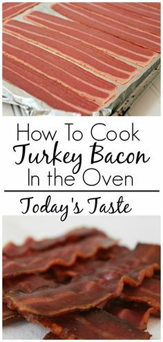 How to Cook Turkey Bacon in the Oven from todaystaste.com