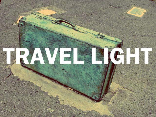Image result for travel light