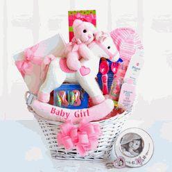 Rocking Baby Girl Gift Basket