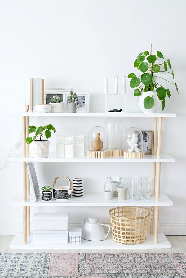 pinned by barefootstyling.com DIY scandi style shelves with very few materials needed