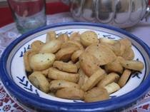 Fekkas - Za'atar (wild thyme) cookies... Amazing twist on a traditional shortbread cookie. This cookie is salty and usually contains a white cheese similar to feta baked in with the za'atar. With maramia tea it is absolutely delicious and great for the digestion.