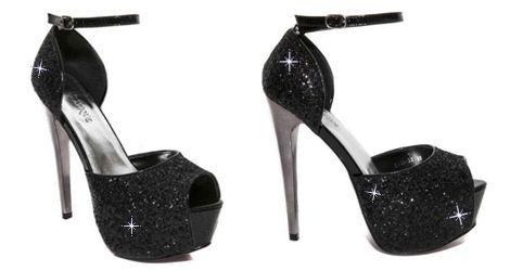 High Heels Black | Glossy Γόβες Μαύρες Γόβες Peeptoes σε pu με μπαρέτα και στρας. Ύψος τακουνιού 15cm. Ύψος φιάπας 4cm.  https://www.famous-shoes.gr/shoes/9318-33?id=9187