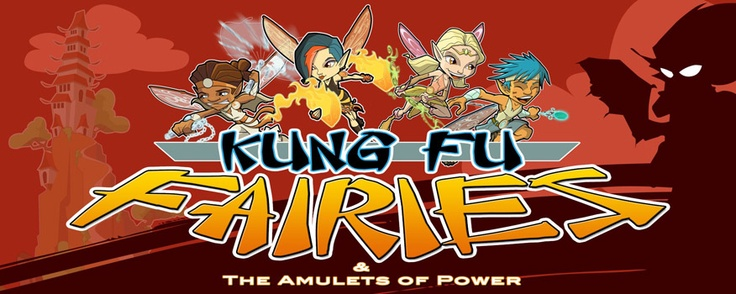 Kung Fu Fairies & The Amulets of Power : Homepage.   Journey to the mystic Island of Santiva to join four quarreling Fairies and a wise old Monk on their mission to protect the magical Amulets of Power from all evil doers.    The Fairies learn the ancient art of Kung Fu to help fend off the sinister threat of Roald the Dark Master and his Ninja Minions.  In the process, the mismatched Fairies learn a valuable lesson in team work, ... and more importantly, frienship.
