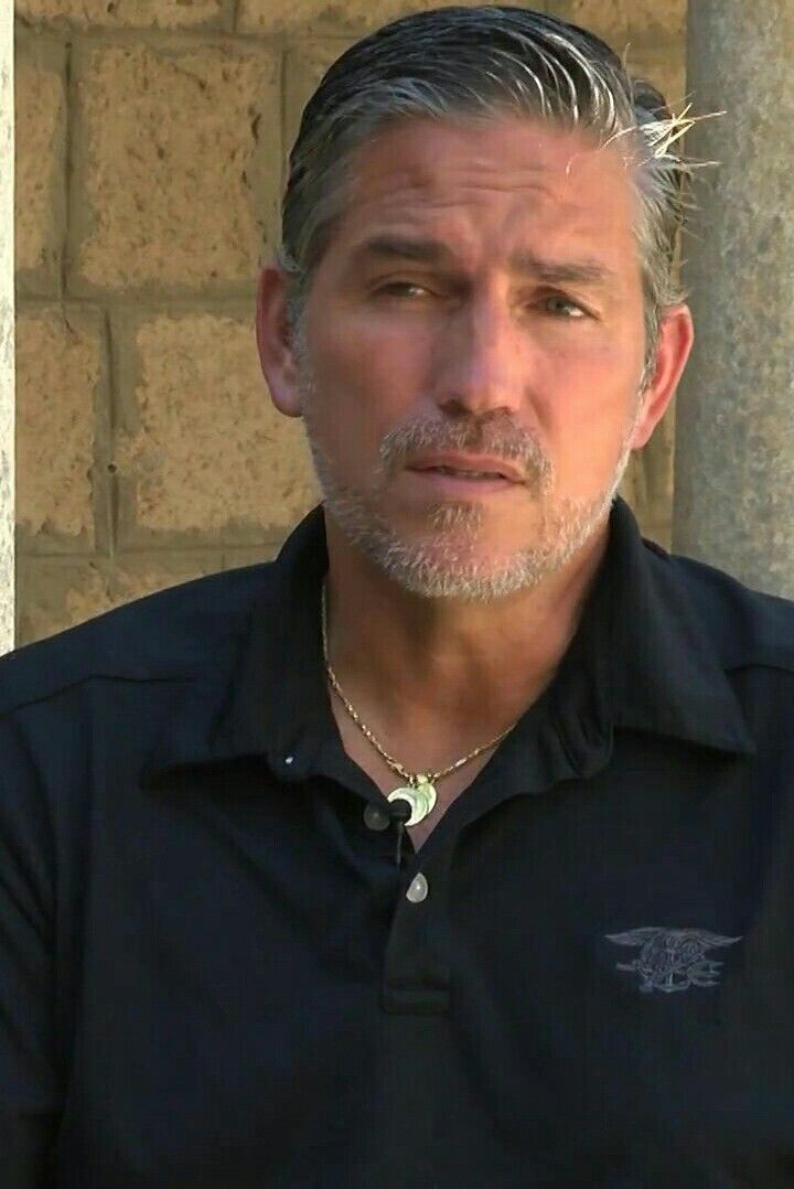 Jim Caviezel - with a Navy Seal shirt on.  ??????
