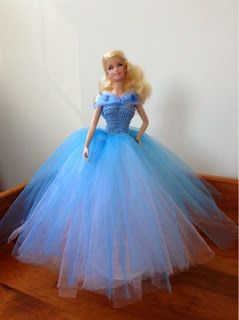 Tess and Annie: Cinderella's Blue Ball Gown - Free Crochet Pattern