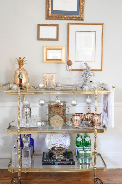 easy holiday bar cart Home With Keki                                                                                                                                                                                 More