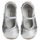 Baby Girls Metallic Silver Shoes