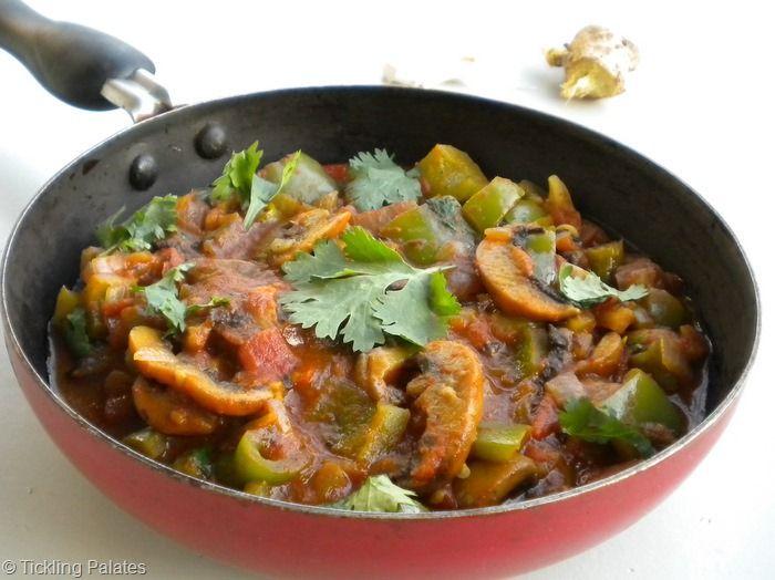 Tickling Palates: Mushroom Masala ~ Spicy & Hot | Mushroom Recipes