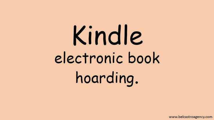 Kindle: electronic book hoarding. Not as much fun as holding a book in your hands, but a close second.