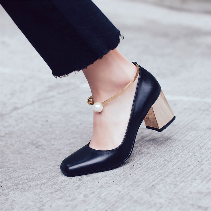 Only at Shoesofexception - Pumps - Pearly Black $78.99   #elegant #shoes #trendy #casual #women #pumps #boots #womensfashion