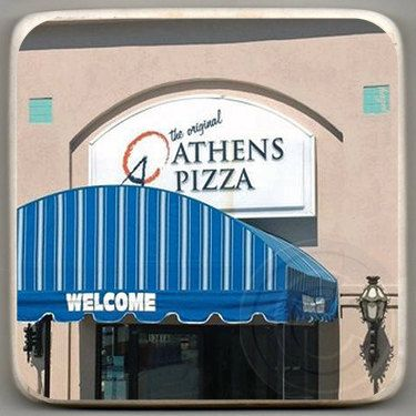 Athens Pizza, Decatur,Georgia. Landmark Marble Stone Coaster. Mix and Match With My Other Coasters To Make A Set. customcoastersbyhazel.com