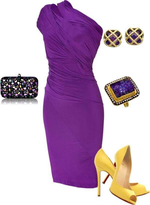 Violet Night vestido violeta