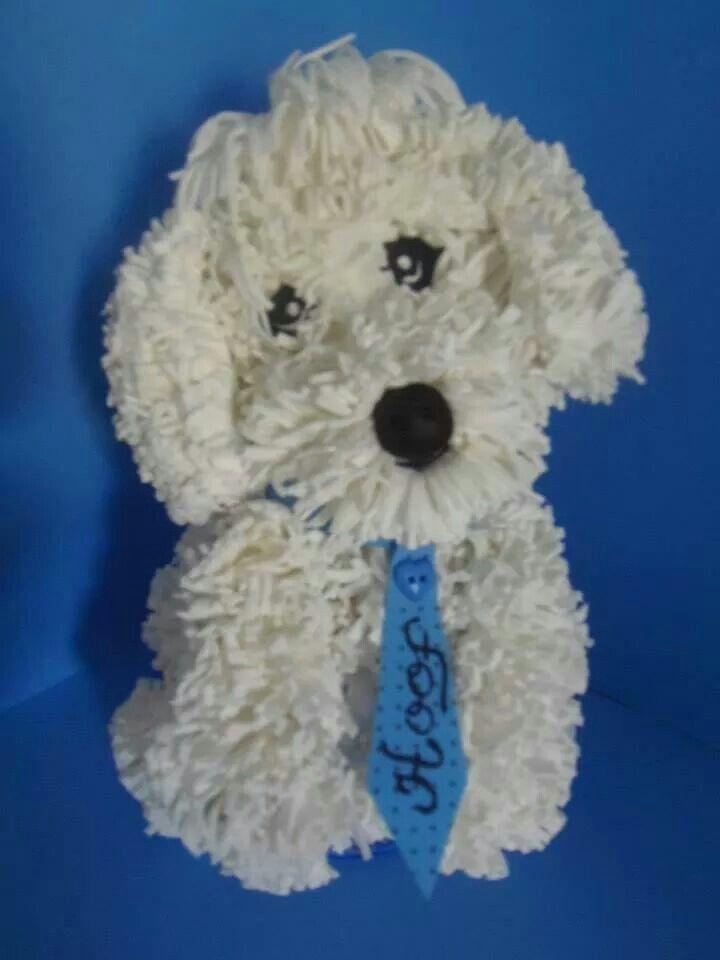 99 best images about dog pom poms on pinterest poodles for Pom pom puppy craft
