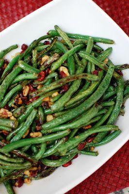 Roasted Green Beans with Cranberries and Walnuts | Beantown Baker ... adventures in a Boston kitchen
