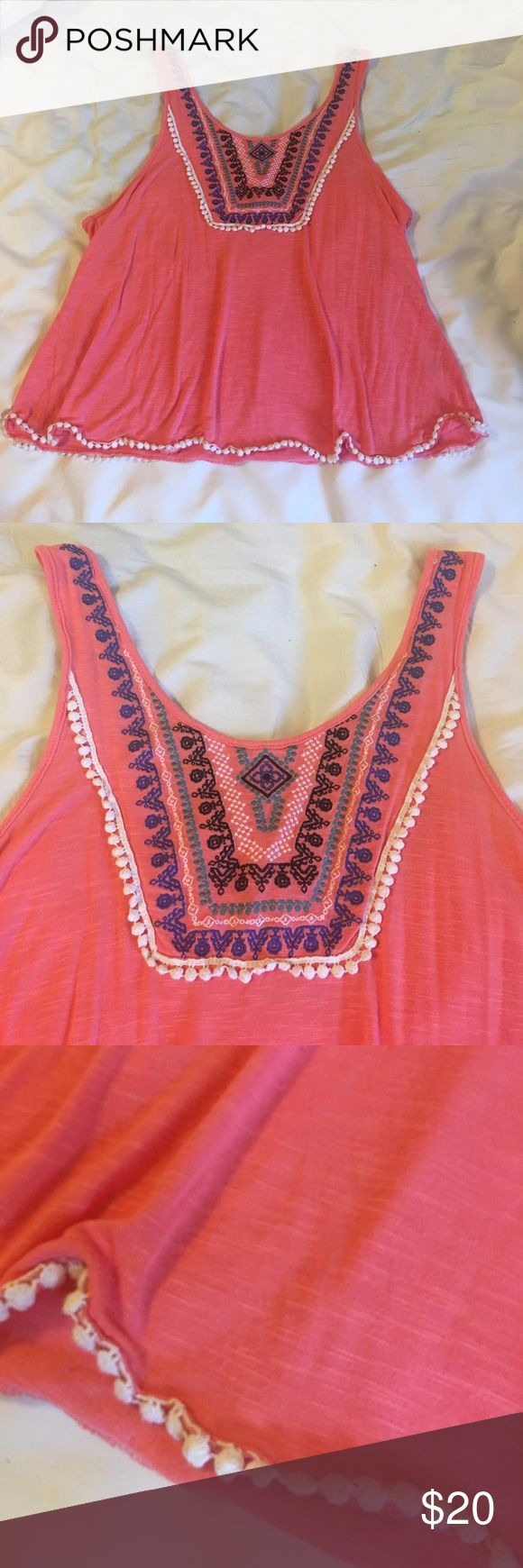 Tank Super cute tank! EUC!! Kind of like a coralish color, color is well represented in picture. Super soft material. Absolutely nothing wrong with it! Red Camel Tops Tank Tops