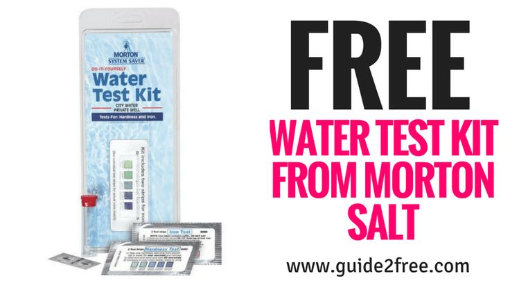 Get a FREE Water Test Kit from Morton Salt to see if you have hard water.  Do I have hard water? Do I need a water softener? Morton Salt will send you a water test strip to help you find out if you have any hard water issues. Just run the test strip under water to evaluate your water hardness. Sign up today!