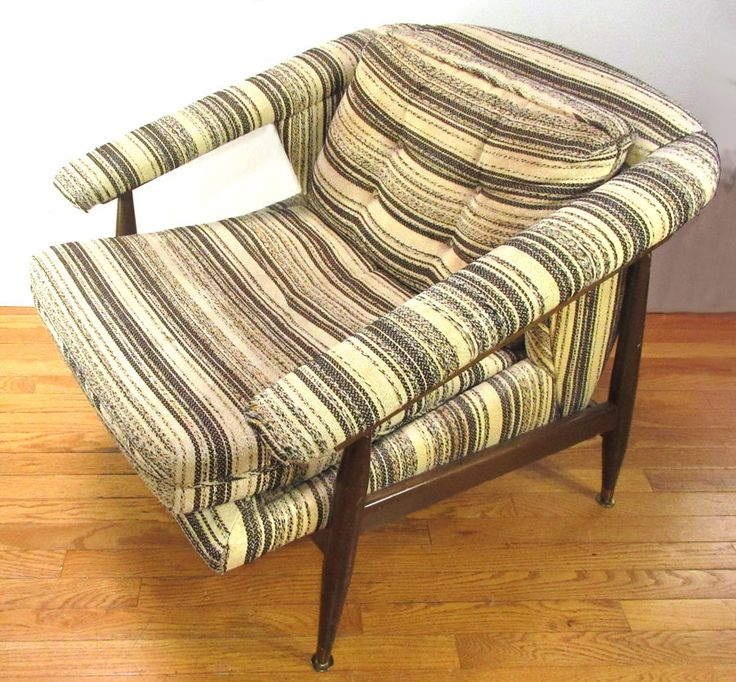 Vintage Mid-Century Modern Upholstered Arm Chair - COOL Lines