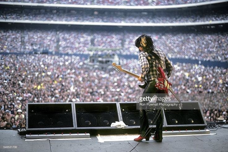 Aerosmith guitarist Joe Perry performs onstage at The Meadowlands on August 06, 1978 in East Rutherford, New Jersey.