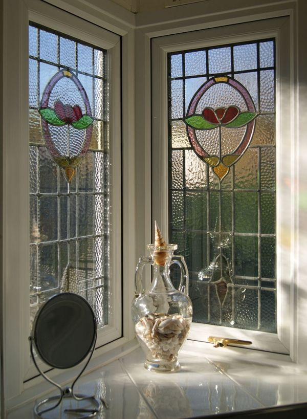 stained glass overlay on existing double glazing - Google Search