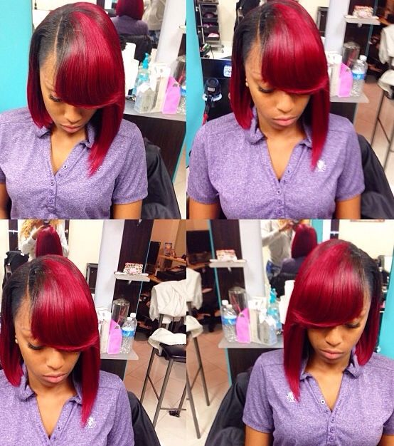 SideBang #Weave #InvisiblePart #Feathered: Weave Hairstyles, Black ...