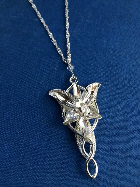 Arwen evenstar necklace jrr tolkien lord of the rings inspired arwen evenstar necklace jrr tolkien lord of the rings inspired cosplay prop jewelry elf elvish costume made in usa ships from usa by showponystore aloadofball Gallery