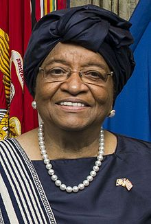 Ellen Johnson Sirleaf February 2015.jpg   [the 24th President of Liberia from 2006 to date.]