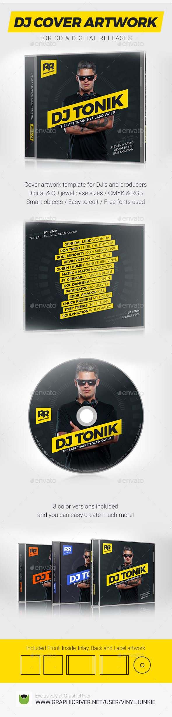 1000 images about dj mix cd cover artwork templates on for Dj press kit template free