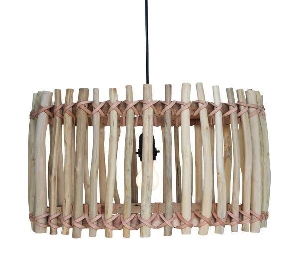 "Natural fibres have moved beyond holiday furniture making their way into the home in a different form: lighting. Beautifully versatile, translating effortlessly from traditional, contemporary and boho aesthetics, they provide a simple way to add texture and architectural interest to any space. The Primitive Pendant makes a stunning statement with it's ""straight from the forest"" teak branch construction – think tribal accessories."