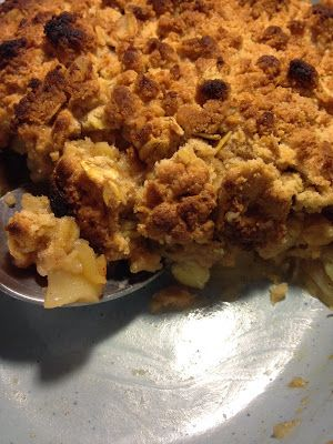 Crumble de maçã, banana, coco e canela - The Love Food