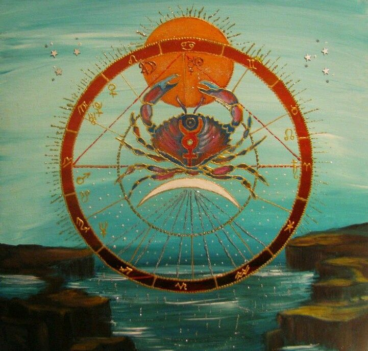 Cancer Zodiac Art | Astrology | Cancer the Crab | Moon Child ♋ Cancer ♋ June 22nd - July 22nd ☪