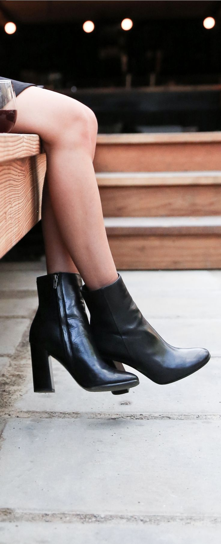 The only black ankle boot you need; the Mina Bootie from The Frye Company.