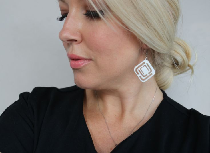 Stainless steel laser cut earrings The Design Tree