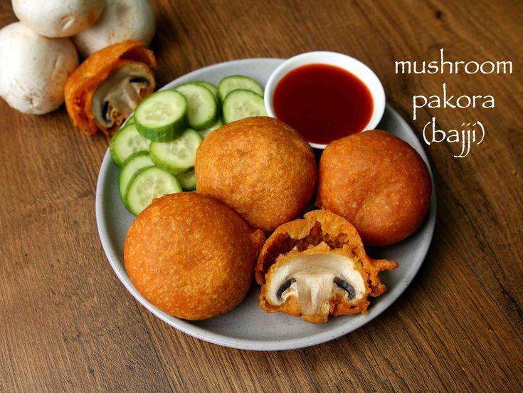 mushroom 65 recipe, mushroom pakora, mushroom pakoda with step by step photo/video. popular street food recipe of india served as evening snack or side dish
