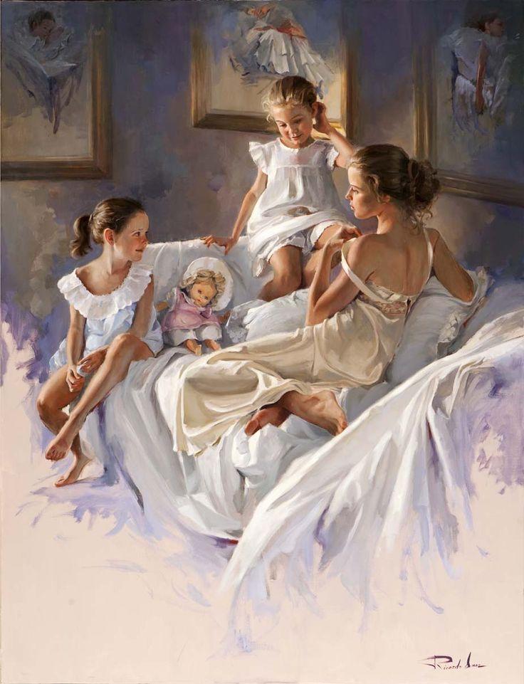 Niñas en camisón, Ricardo Sanz