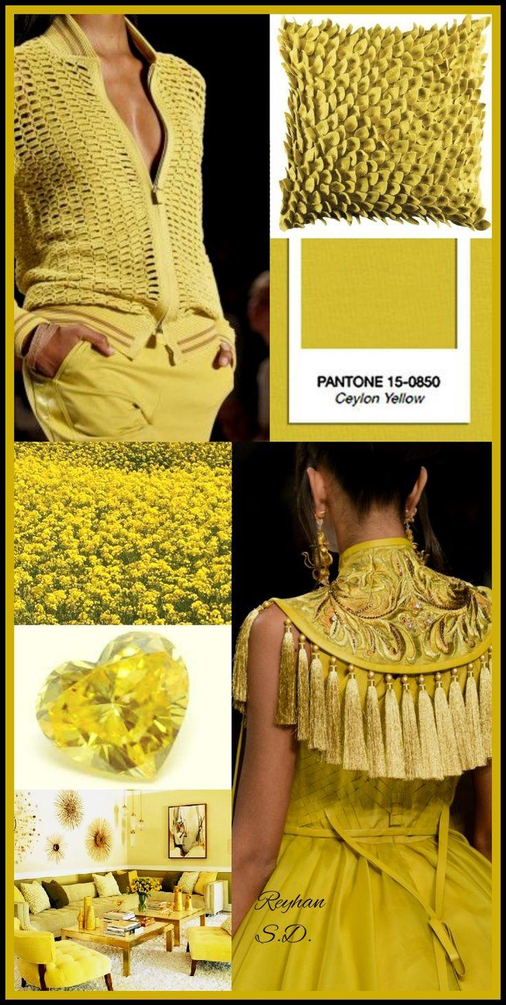 '' Ceylon Yellow :Pantone Fall/ Winter 2018-2019 Colors Trends '&#39…