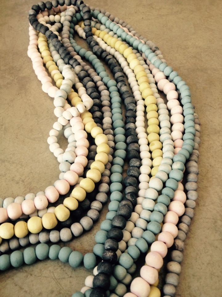 Hellooow hand rolled ceramic bead necklaces www.hellooow.co.za