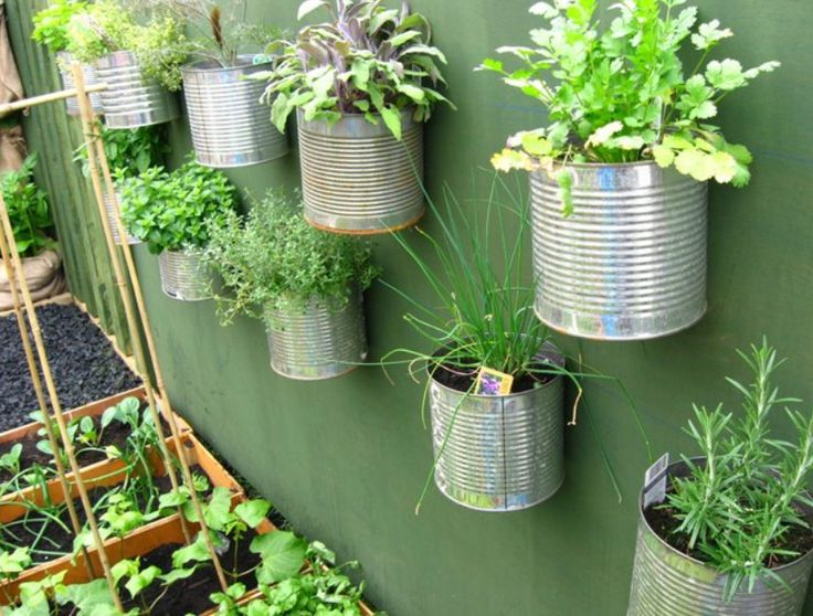 Nifty vertical herb garden