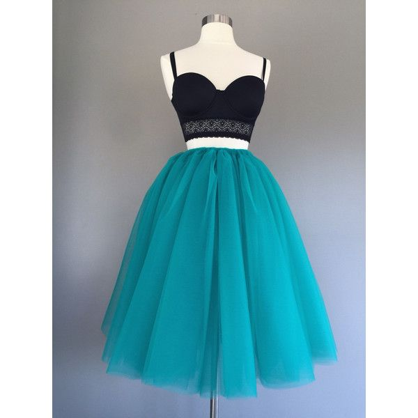 Tulle skirt, teal Tutu, teal tulle skirt, turquoise tutu- custom any... ($55) ❤ liked on Polyvore featuring skirts, blue tutu skirt, tutu skirts, tulle skirt, checkerboard skirt and checked skirt