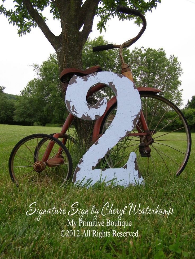 CUT OUT NUMBER 2 Baby's 2nd Birthday Shabby by MyPrimitiveBoutique, $58.00