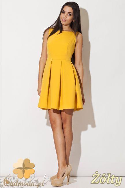 Niezwykle elegancka sukienka kontrafałda z rozkloszowanym dołem i dopasowaną górą firmy Katrus.  #cudmoda #ubrania #odzież #moda #styl #sukienki #dresses