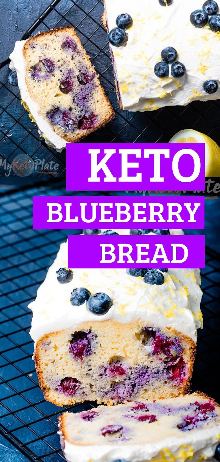 Keto Blueberry Bread Recipe Blueberry Bread Low Carb Recipes